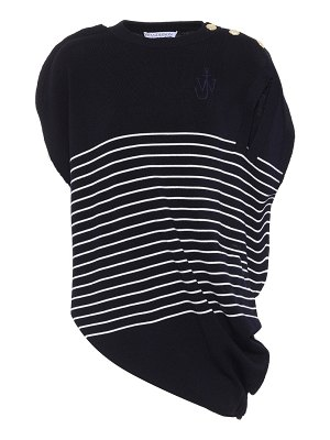 J.W.ANDERSON Striped wool knit top