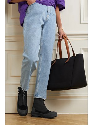 J.W.ANDERSON suede and rubber-trimmed twill ankle boots