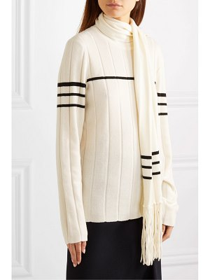 J.W.ANDERSON tasseled draped wool and cashmere-blend sweater