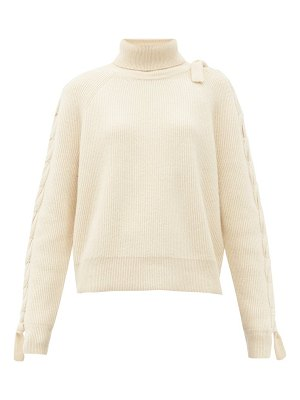 J.W.ANDERSON threaded cable-knitted alpaca and yak-wool sweater