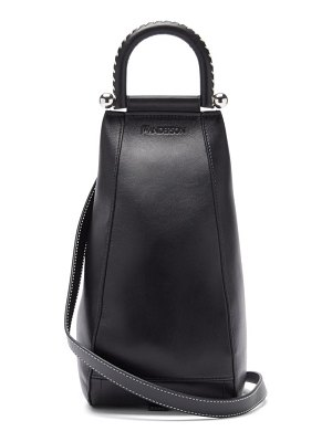 J.W.ANDERSON wedge small grained-leather cross-body bag