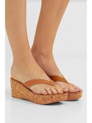K. Jacques diorite leather wedge platform sandals