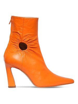 Kalda 80mm fory leather ankle boots