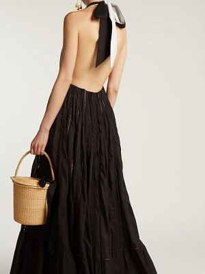 KALITA Rooftop Runway Cotton Halter Neck Maxi Dress