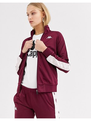 Kappa tracksuit jacket with contrast banda logo taping two-piece-purple