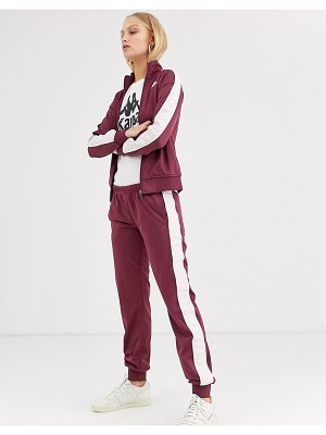 Kappa tracksuit pants with contrast banda logo taping two-piece-purple