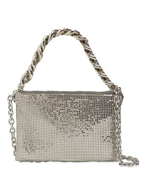 Kara Chain mesh brass crossbody bag
