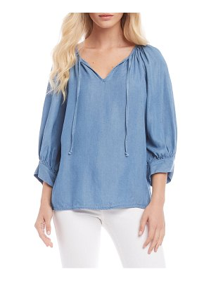 Karen Kane balloon sleeve peasant top
