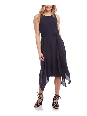 Karen Kane sleeveless handkerchief hem dress