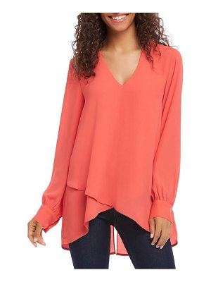 Karen Kane split back crossover top