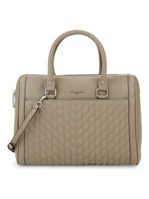 Karl Lagerfeld Paris Agyness Quilted Leather Satchel Bag