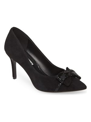 Karl Lagerfeld Paris bow pointed toe pump