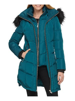 Karl Lagerfeld Paris chevron puffer coat