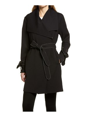Karl Lagerfeld Paris drop belted trench coat