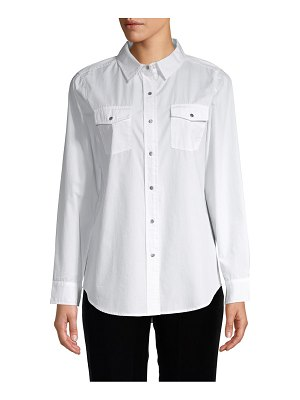 Karl Lagerfeld Paris Graphic Cotton Button-Down Shirt