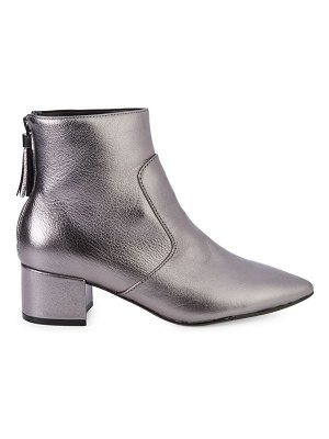 Karl Lagerfeld Paris Maude Metallic Ankle Boots