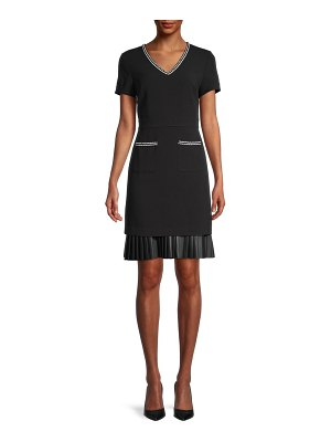 Karl Lagerfeld Paris Pleated-Hem Sheath Dress