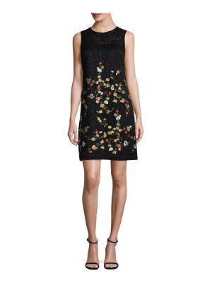 Karl Lagerfeld Paris Poly Lace Mini Dress