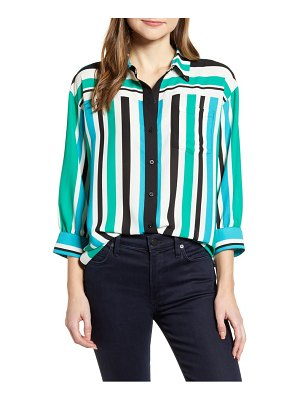 Karl Lagerfeld Paris stripe georgette blouse