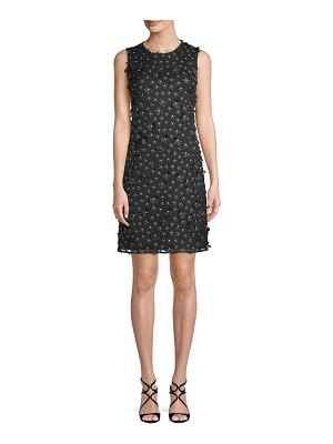Karl Lagerfeld Paris Textured Floral Mini Dress