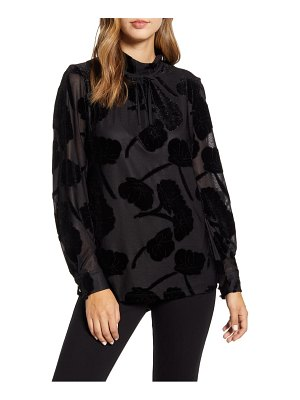 Karl Lagerfeld Paris velvet floral knit top