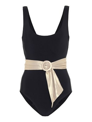 Karla Colletto brooke belted swimsuit