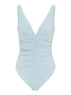 Karla Colletto ruched v-neck swimsuit