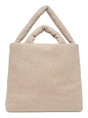 Kassl Editions beige wool felted large bag