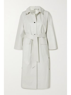 Kassl Editions belted coated cotton-blend trench coat