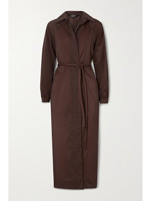 Kassl Editions belted shell trench coat