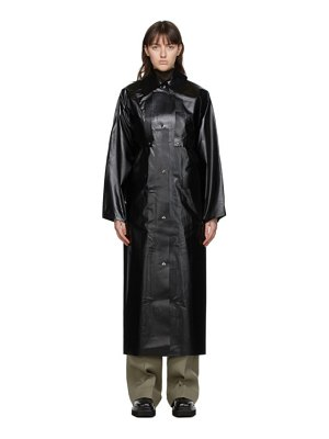 Kassl Editions black oil long coat