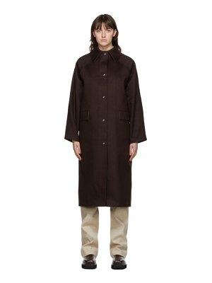 Kassl Editions brown wool original below coat