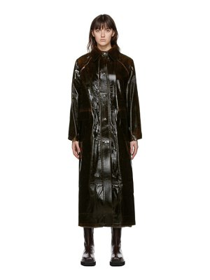 Kassl Editions brown wool original long lacquer coat