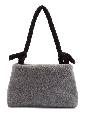 Kassl Editions lady knotted-strap wool-blend felt shoulder bag