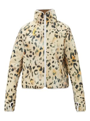 Kassl Editions leopard-print technical padded jacket