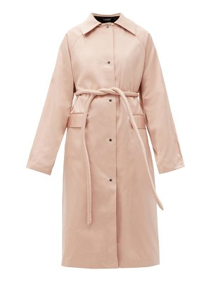 Kassl Editions original belted satin trench coat