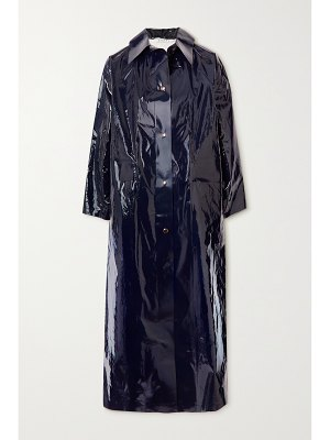 Kassl Editions original glossed pu and cotton-blend trench coat