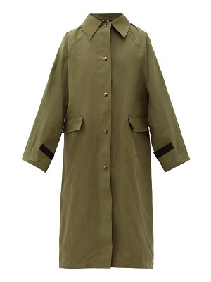 Kassl Editions original wax-coated cotton trench coat