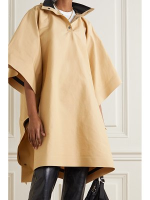 Kassl Editions oversized hooded cotton-blend canvas poncho