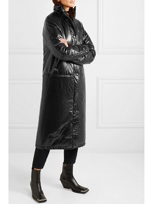 Kassl Editions quilted pu coat