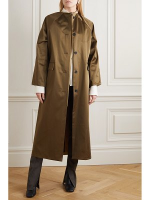 Kassl Editions reversible satin and cotton-blend coat