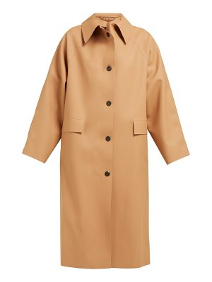 Kassl Editions single breasted rubber trench coat