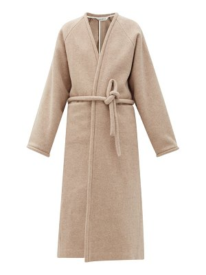 Kassl Editions v-neck wrapped felted-wool blend coat