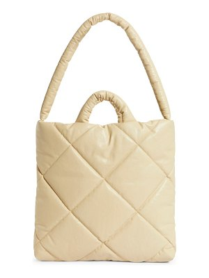 Kassl medium quilted oiled canvas pillow bag