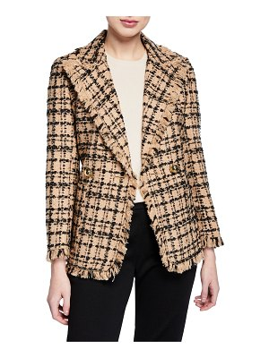 Kate Spade New York bicolor double-breasted tweed blazer