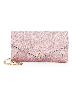Kate Spade New York burgess glitter leather clutch