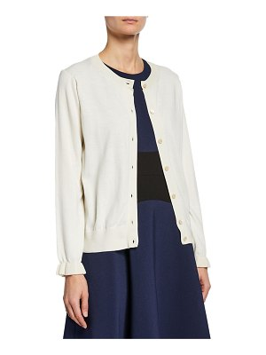 Kate Spade New York button-front long-sleeve ruffle cardigan
