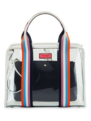 Kate Spade New York clear stripe medium satchel bag