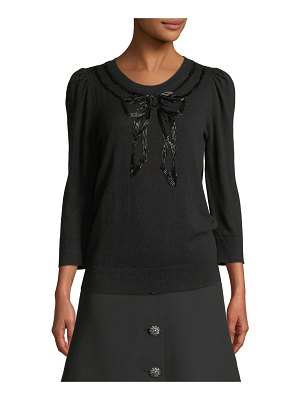 Kate Spade New York embellished bow sweater