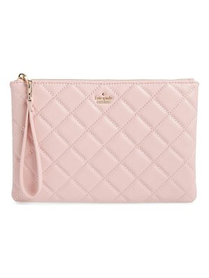 Kate Spade New York emerson place filey quilted leather clutch